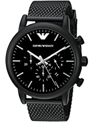 Emporio Armani Mens AR1968 Dress Black Quartz Watch