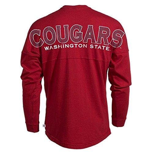 Official NCAA Washington State University Cougars WSU Tri Cities Long Sleeve Spirit Wear Jersey T-Shirt