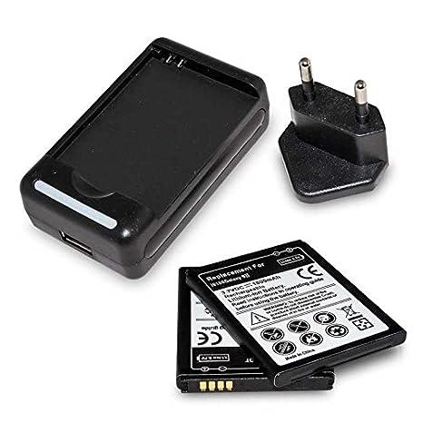 Cargador Externo + 2x Bateria Compatible con Samsung Galaxy S2