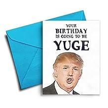 Funny Birthday Card, Birthday Card Boyfriend, Best Friend, Donald Trump