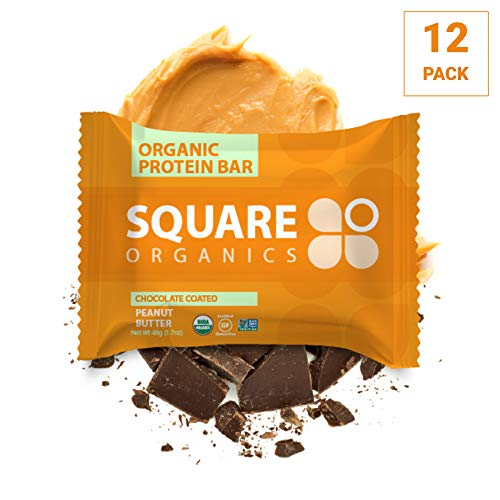 (Square Organics, Bar Protein Chocolate Peanut Butter Organic, 12 Count, 1.7 Ounce)