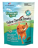 Emerald Pet - Feline Dental Treats, Dental Stick, Cat Chews for Teeth Cleaning, Freshens Breath, Reduces Plaque and Tartar, Grain-Free (Feline Dental Treat, 3 Ounce), Seafood