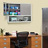 open cabinet shelf - Seville Classics UltraHD Wall Cabinet with Open Shelf