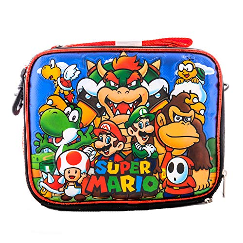 3D Super Mario Luigi and Friends Lunch Box Food Bag Picnic Travel Game fun Everyday pouch