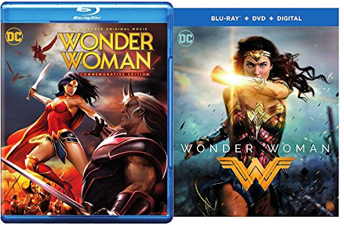 Super Pack Wonder Woman Commemorative Edition blu-ray + DVD + Wonder Woman Gal Gadot Feature Film DC Super Heroes Power Pack Set by Warner Bros. Pictures