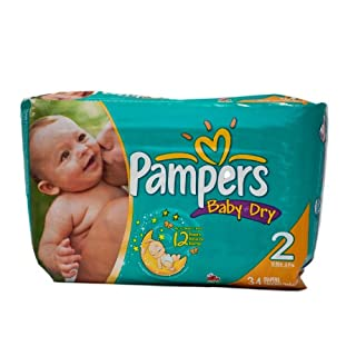 Pampers Baby Dry Size 2/136 Count (4 Packs of 34)