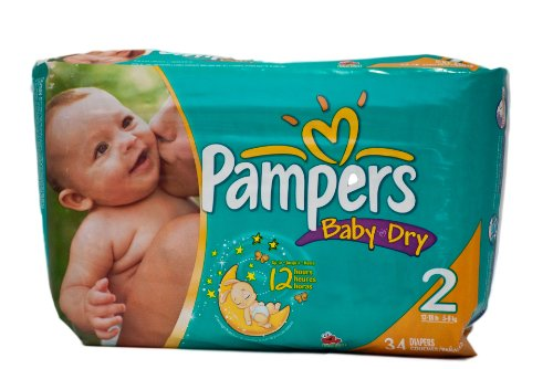 pampers baby dry size 2 - 7