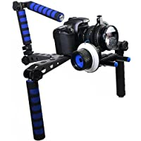 Morros DSLR Rig Movie Kit Shoulder Mount Rig with Follow Focus for All DSLR Cameras and Video Camcorders