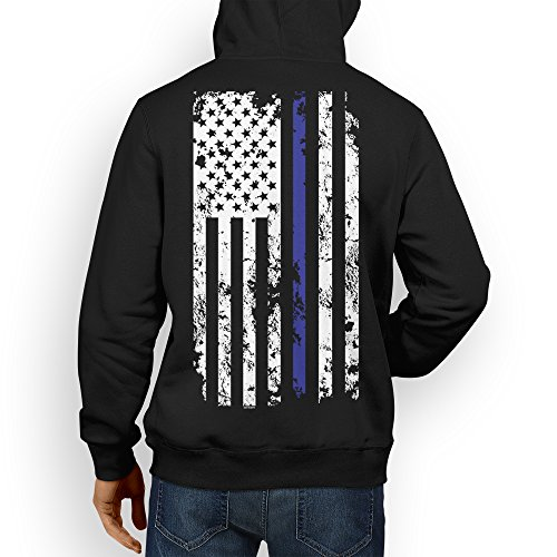 American Flag Hooded Sweatshirt - 9