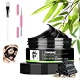 Blackhead Peel Off Mask Diy Topperone Blackhead Remover Mask with Blackheads Needle Bamboo Charcoal Peel-Off Blackhead Mask - Deep Pore Facial Cleansing Mask Facial Masks Black 100g