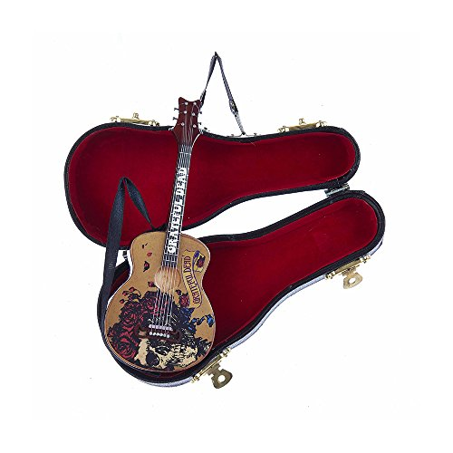 Kurt Adler Grateful Dead Guitar Ornament with Guitar Case, 5.5