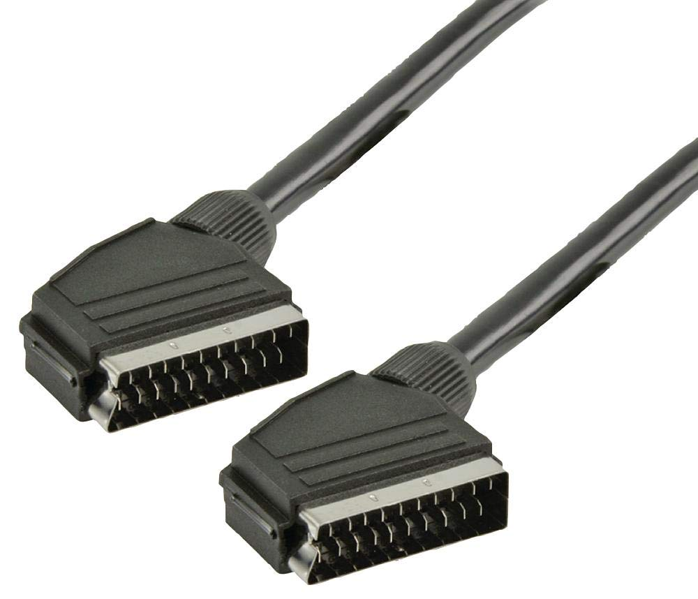 SCART Lead Male-Male 5M Black Cable Length Metric 5m Connector Type A Imperial 16ft Cable Length