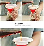 DIMDIM T de silicona retractable de cuello largo cuchara de vino para cocinar el aceite de la salsa de aceite embudo de embalaje mini embudo (Color : Green)