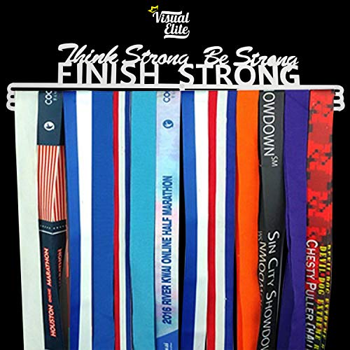 Visual Elite Sports Medal Display Hanger Heavy Duty Steel Design For Marathon, Running, Race, 5K, Wrestling, Jiu Jitsu, Spartan, Etc. The Medal Hangers Collection by Visual Elite