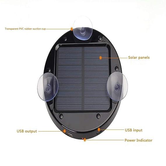 YLYP Cargador Solar con Ventosas, 50W USB Portátil 2600 MAh ...