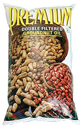 Groundnut Oil Puron 1 L Poly Pack of 5 Peanut