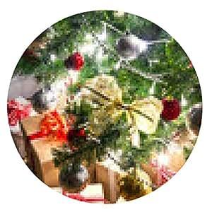 alfombrilla de ratón árbol de Navidad con los regalos - ronda - 20cm