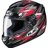 HJC Thunder Men's CS-R2 On-Road Racing Motorcycle Helmet - MC-1 / Large