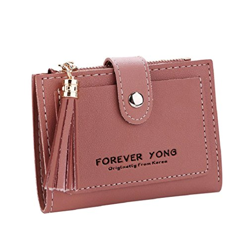 Card ShenPr Zipper Purse Women Red Clearance Wallet Tassel Handbag Holders Letters Coin Short rBzrqp8