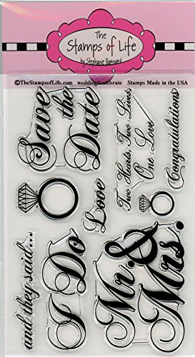 (Wedding Scrapbooking Stamps for Card Making by The Stamps of Life - Wedding2Celebrate Invitations)