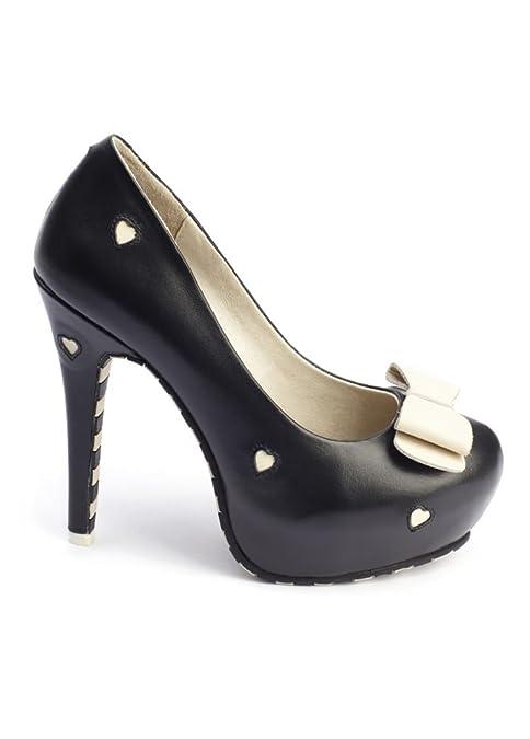 Lola Ramona Damen Pumps Schwarz schwarz: : Schuhe