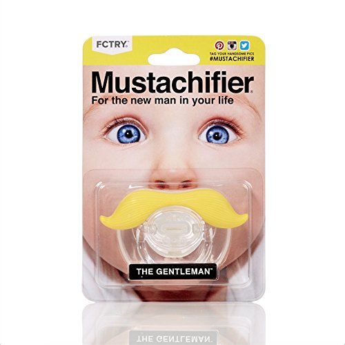 Hipsterkid BPA Free Mustachifier for Kids 0-48 Months in Gentlemen Blonde -