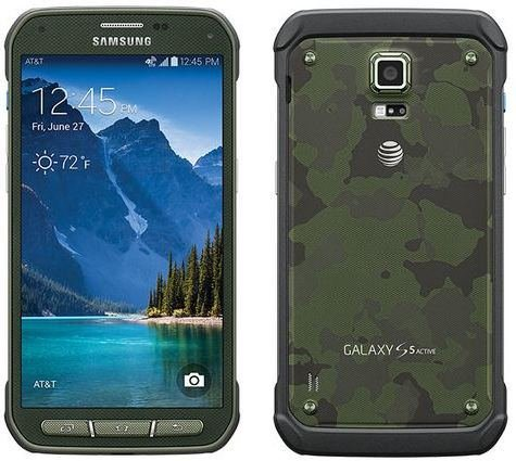 - Samsung Galaxy S5 Active 4G LTE 16 GB Rugged Smartphone Camo Green GSM Unlocked
