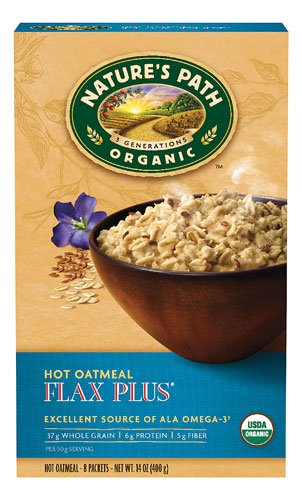 Nature's Path Organic Instant Hot Oatmeal Flax Plus -- 8 Packets - 2 pc