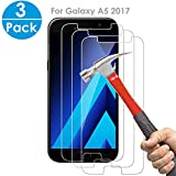 SEGMOI® 3Pack Samsung Galaxy A5 2017 Tempered Glass Screen Protector 9H Hardness HD
