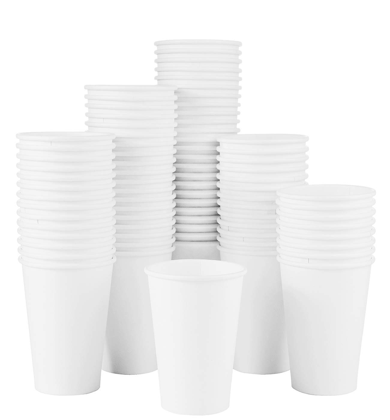 To Go Paper Coffee Cups For Hot And Cold Beverages Plain