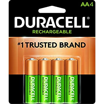 Duracell - Rechargeable AA Batteries - long lasting, all-purpose Double A battery for household and business - 4 count