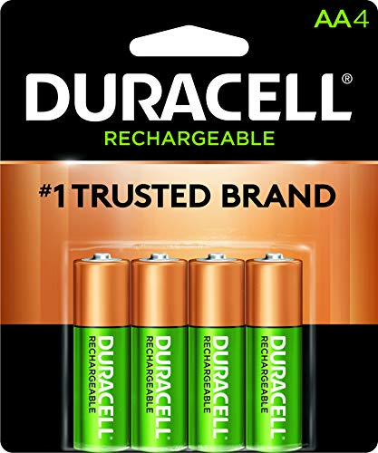 Duracell - Rechargeable AA Batteries - long lasting, all-purpose Double A battery for household and business - 4 count ()