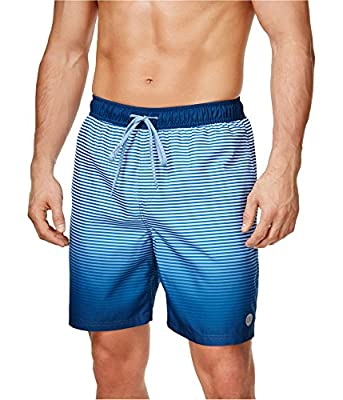 Calvin Klein Mens Fade Into The Stripes Swim Bottom Trunks