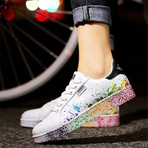 Sneakers all'Aperto ZIITOP Casual Sportive Fitness Basse Passeggio Scarpe Unisex Scarpe Nero da Uomo Ginnastica da Interior YxRATY