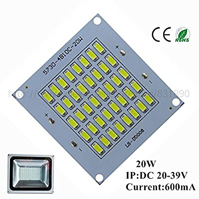 White 6500K, 50W : 2pcs LED pcb floodlight pcb Aluminum lamp plate 10W 20W 30W 50W SMD5730 led Lighting Source Panel for outdoor lamp