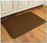 WellnessMat Antique Collection Motif Light Brown Linen Mat, 36 x 24 Inch