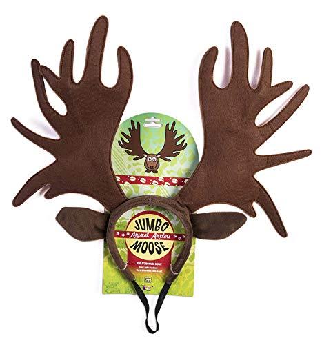 Forum Novelties Adult Jumbo Moose Antlers Animal Headband Giant Ears Brown Costume Accessory