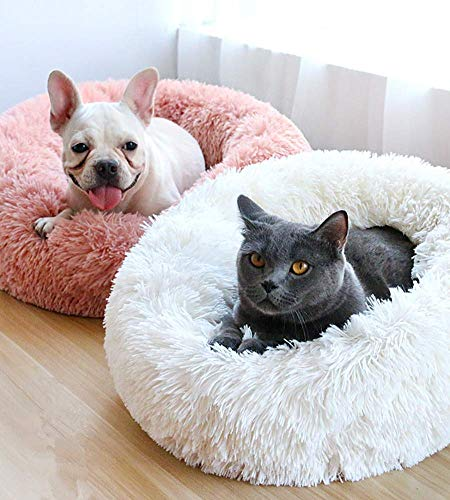 V-mix Plush Donut Pet Bed, Round Cat and