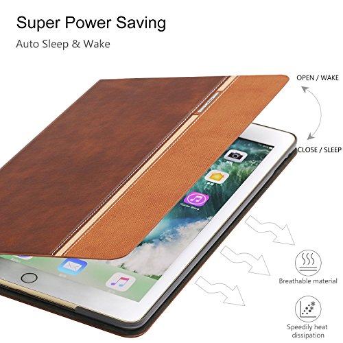 iPad Air 2 Case, AUAUA iPad Air 2 PU Leather Case with Smart Cover Auto Sleep/Wake +Screen Protector for Apple iPad Air 2 (iPad Air 2 case, Air2 Choco Brown) by auaua (Image #5)