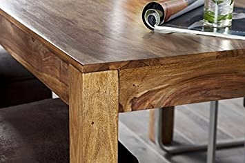 DuNord Design Esstisch Mumbai Palisander Massivholz Sheesham 135 cm