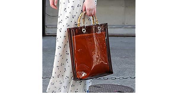 Amazon.com: New Summer Clear Transparent Handbag Large ...