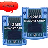 Replaceable Gamecube Memory Card 512MB 8192 Blocks Compatible for Nintendo Gamecube Wii Consoles by QINGYA(2 Packs)