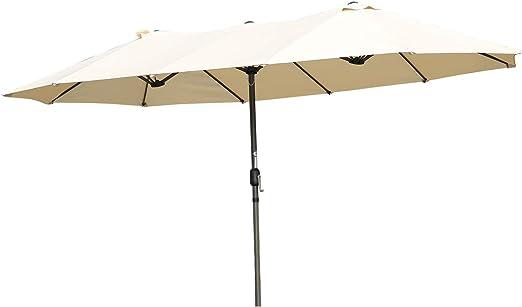 Angel Living Sombrilla Parasol Doble para Jardín, Parasol de Tela ...