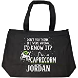 I'd Know It I'm A Capricorn Woman Named Jordan Gift - Tote Bag With Zip