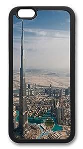 ACESR Burj Dubai Shop iPhone 6 Case TPU Back Cover Case for Apple iPhone 6 4.7inch Black