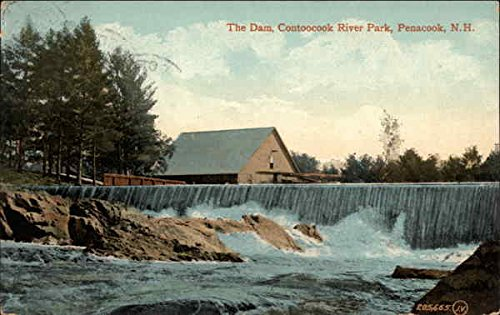 The Dam, Contoocook River Park Penacook, New Hampshire Original Vintage Postcard