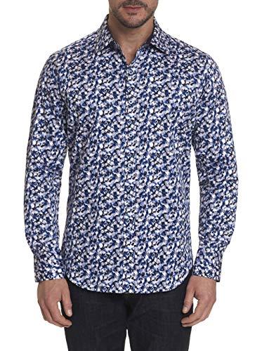 Robert Graham Thunderstruck Long Sleeve Printed Sport Shirt Classic Fit Multicolored Medium from Robert Graham