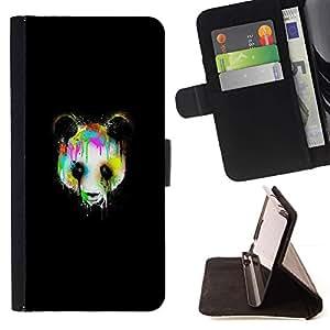 Momo Phone Case / Flip Funda de Cuero Case Cover - Psychedelic Panda Graffity;;;;;;;; - Samsung Galaxy S5 Mini, SM-G800