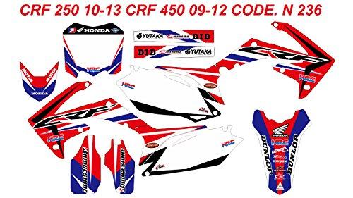 DOG RACING DESIGN N 236 HONDA CRF250 2010-2013 CRF450 2009-2012 GRAPHIC KIT