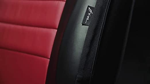 Black w//Red Center Panel Fia SL62-22 RED Custom Fit Rear Seat Cover Split Seat 60//40 Leatherette,